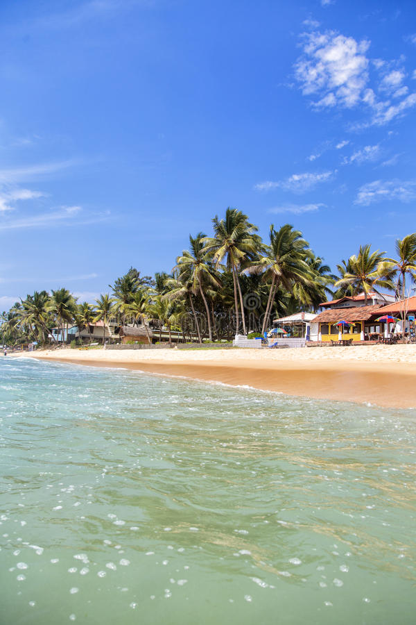 Het Strand van Hikkaduwa in Sri Lanka stock afbeeldingen