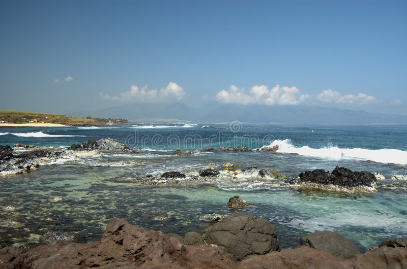 Het strand van Hoopika, Maui stock foto's