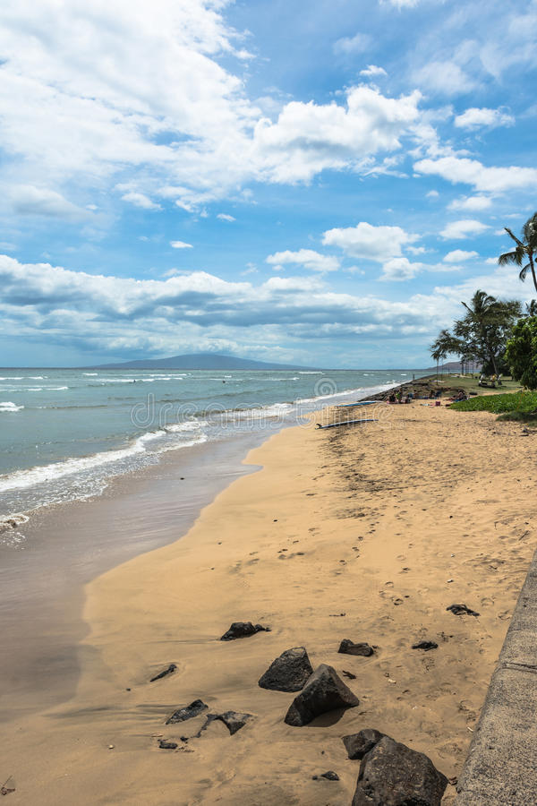 Het strand van Kaanapali, Maui, Hawaï royalty-vrije stock fotografie