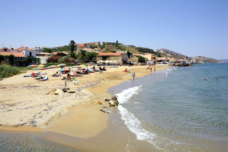 Het strand van Kalives royalty-vrije stock foto