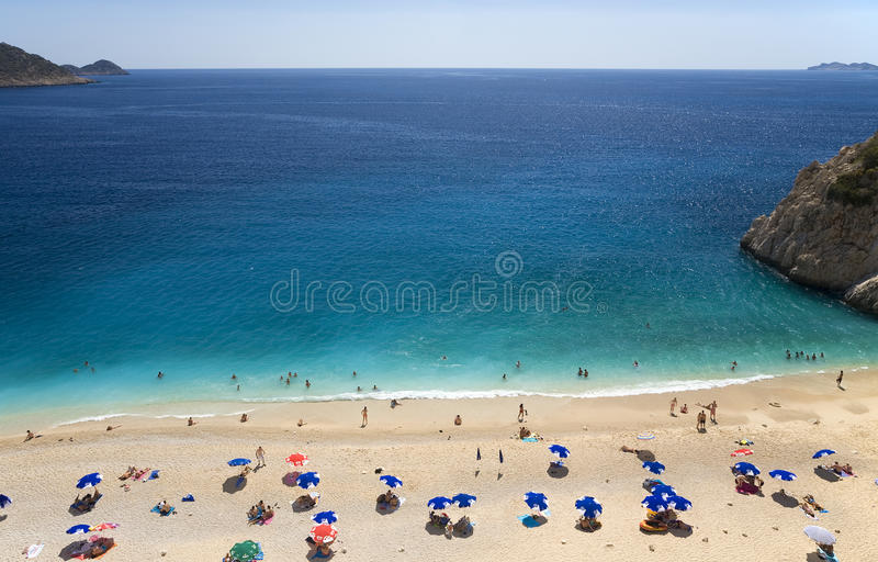 Het Strand van Kaputas stock afbeelding