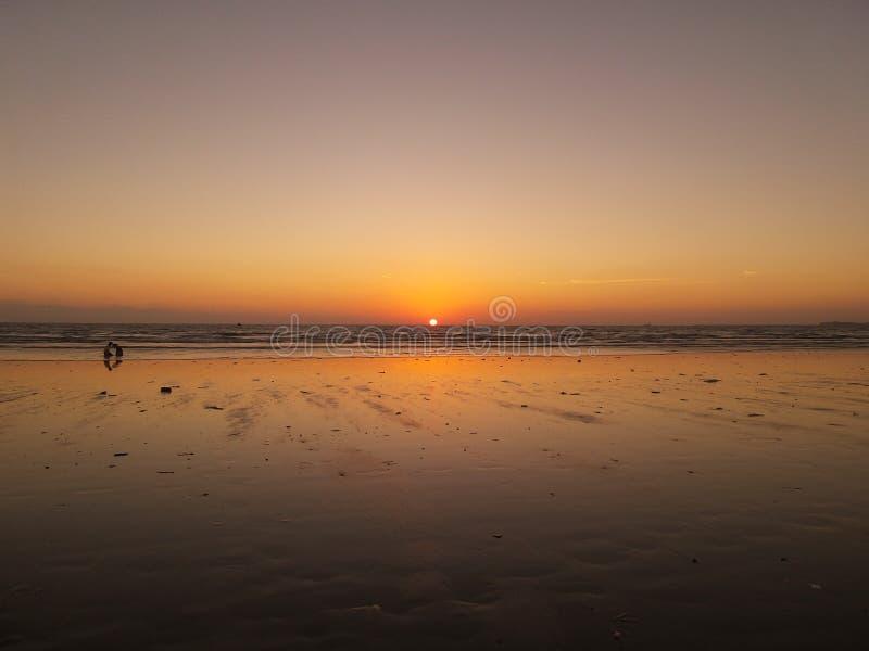 Het Strand van karachi stock foto's