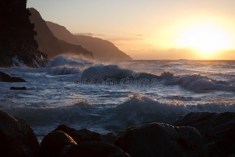 Het Strand van Ke'e, Kauai royalty-vrije stock afbeelding