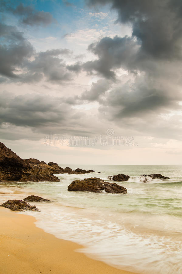 Het Strand van Kemasik stock fotografie