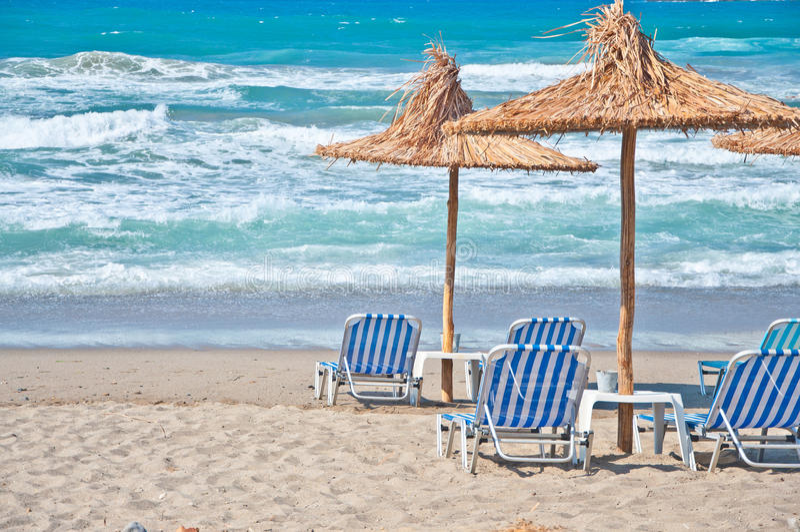Het strand van Kreta stock fotografie