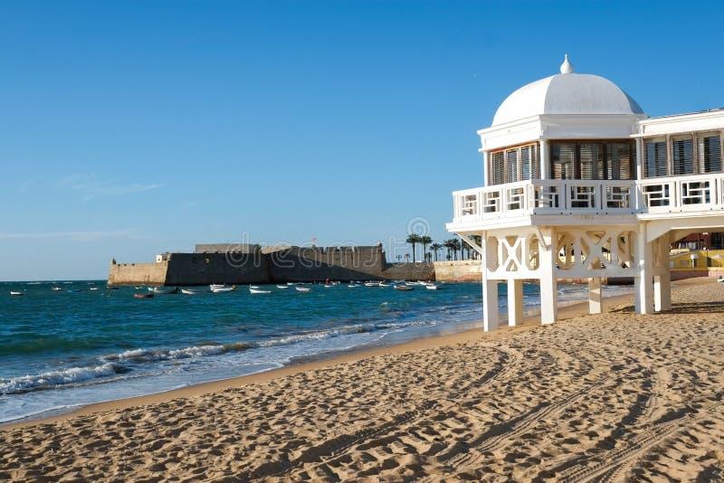 Het strand van La Caleta royalty-vrije stock afbeeldingen