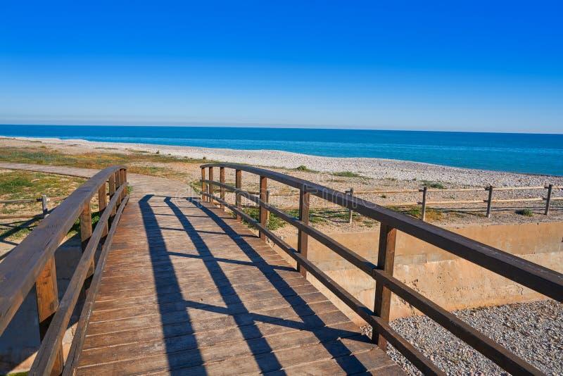 Het strand van La Llosa in Castellon van Spanje stock fotografie