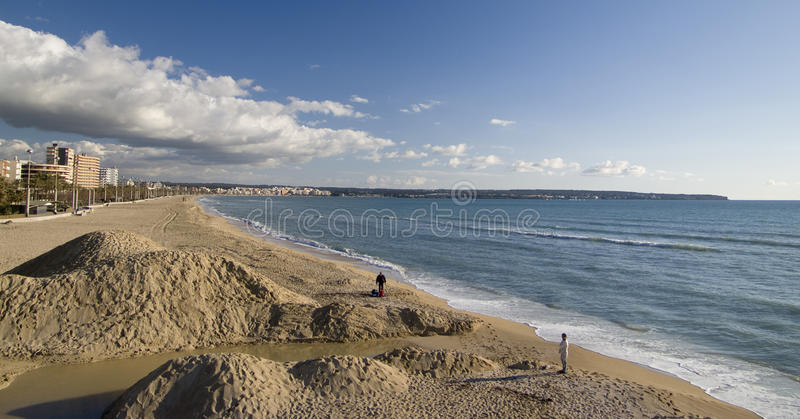 Het strand van le Arenal royalty-vrije stock foto's