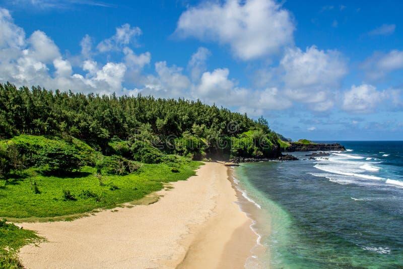 Het strand van Le Gris op de zuidkust van Mauritius stock afbeelding