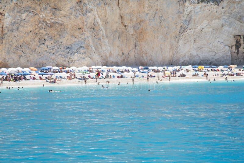 Het strand van Lefkada stock foto