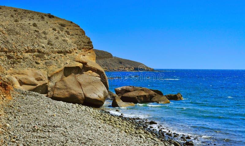 Het strand van Lomogaleon in Gran Canaria, Spanje royalty-vrije stock foto