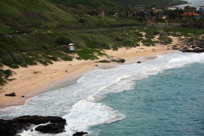 Het Strand van Makapuu, Hawaï royalty-vrije stock foto's