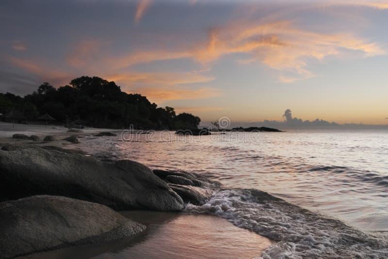 Het Strand van Makuzi bij dageraad royalty-vrije stock afbeeldingen