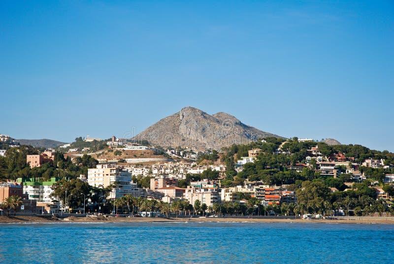 Het Strand van Malaga - Mening van het Overzees royalty-vrije stock fotografie