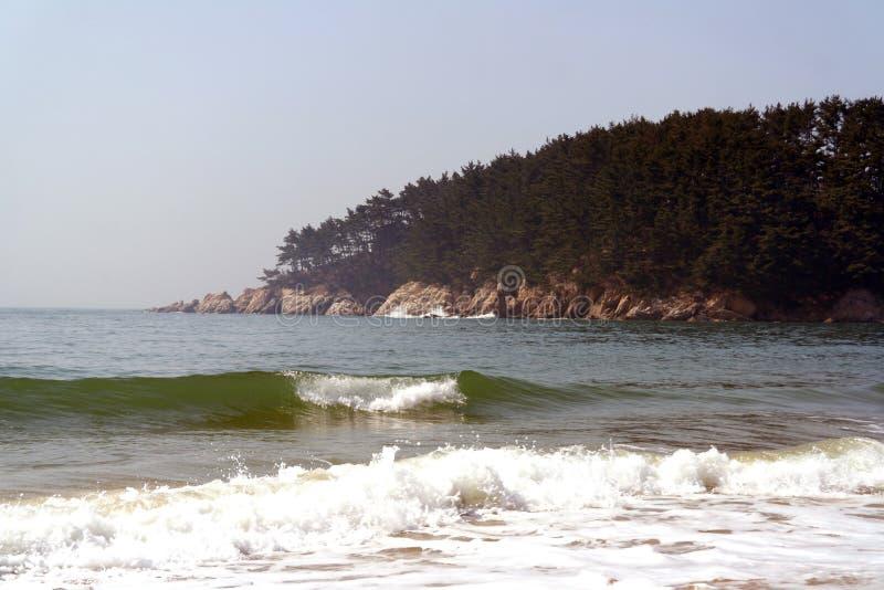 Het Strand van Mallipo, Zuid-Korea stock afbeelding