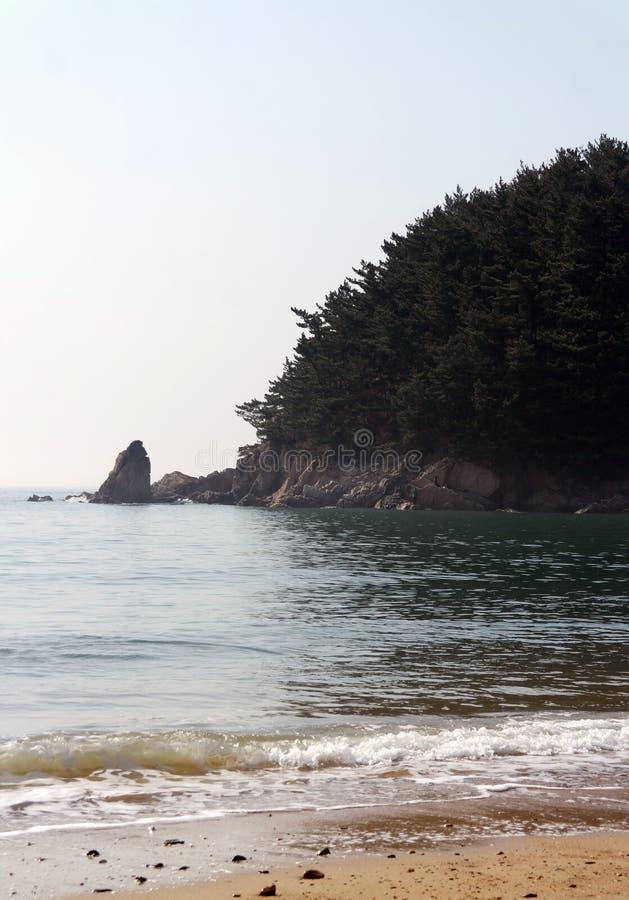 Het Strand van Mallipo, Zuid-Korea stock foto's