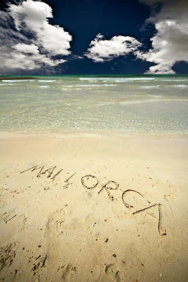 Het strand van Mallorca stock afbeelding