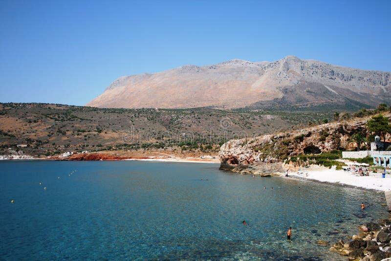 Het strand van Mani in Griekenland royalty-vrije stock afbeeldingen