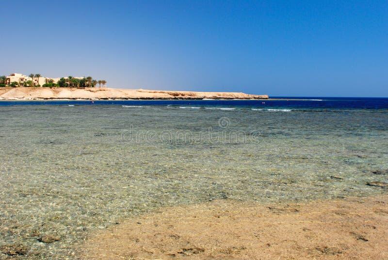 Het strand van Marsa alam in Egypte stock afbeelding