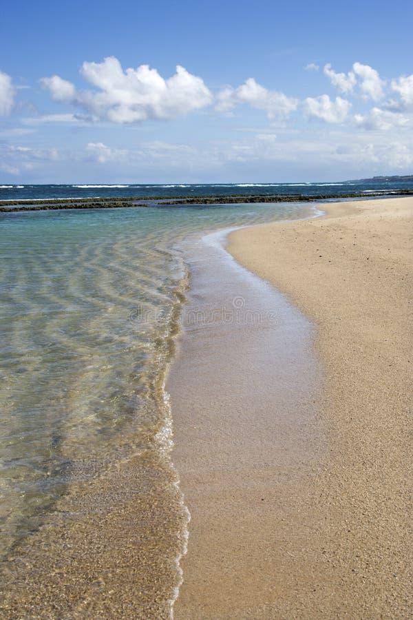 Het strand van Maui, Hawaï. royalty-vrije stock afbeeldingen