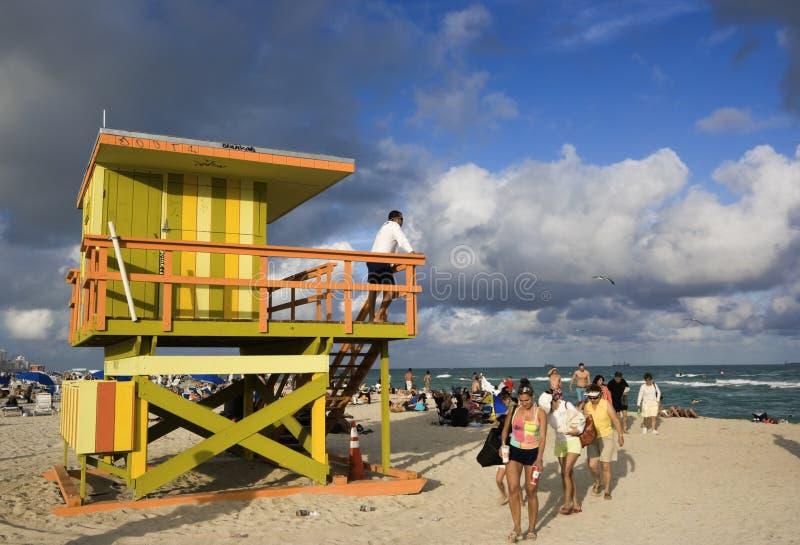 Het Strand van Miami stock foto's