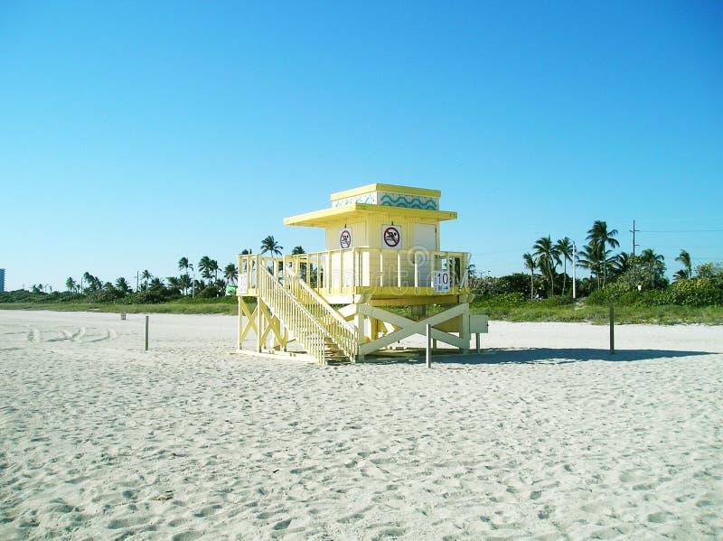 Het strand van Miami in de winter royalty-vrije stock foto's