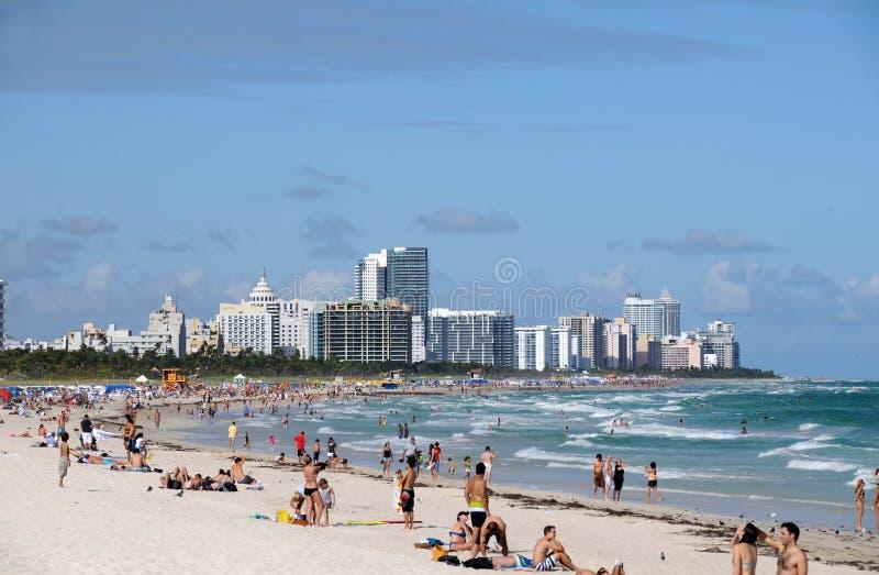 Het Strand van Miami, Florida royalty-vrije stock afbeeldingen