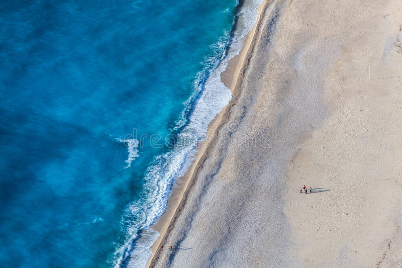 Het strand van Myrtos royalty-vrije stock fotografie