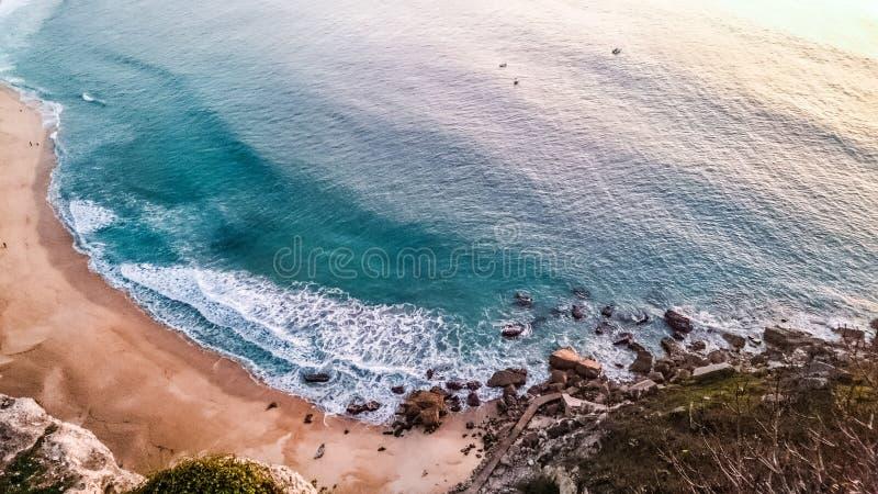 Het strand van Nazaré royalty-vrije stock foto
