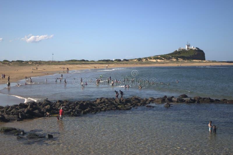 Het Strand van Newcastle, Australië royalty-vrije stock afbeelding