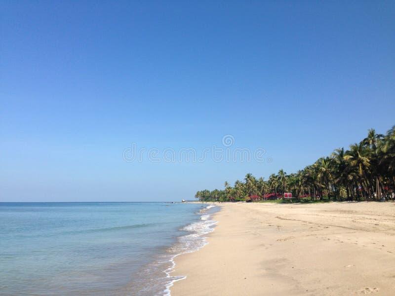 Het Strand van Ngwesaung stock fotografie