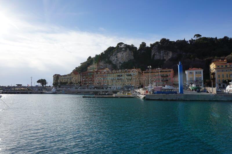 Het Strand van Nice, Frankrijk stock afbeelding