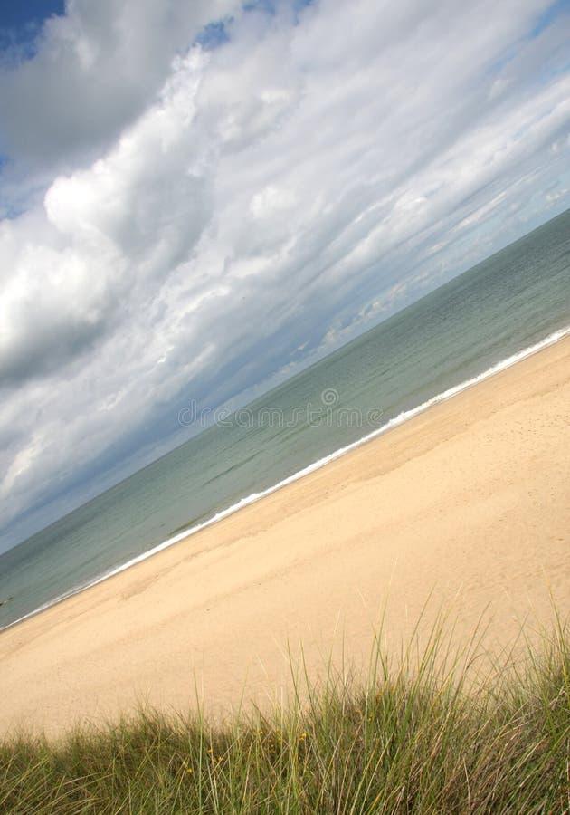 Het strand van Norfolk, Zandduinen, Horsey, Engeland royalty-vrije stock fotografie