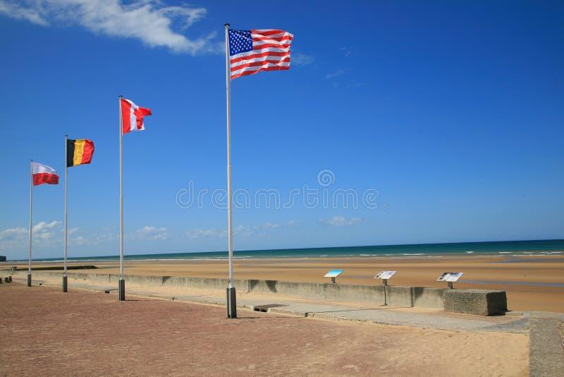 Het Strand van Omaha stock foto's