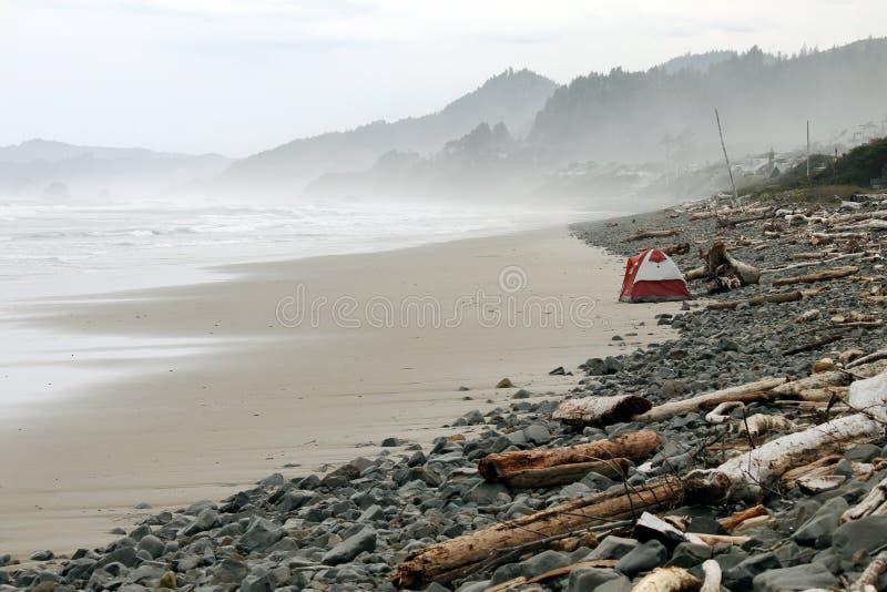 Het strand van Oregon stock afbeeldingen