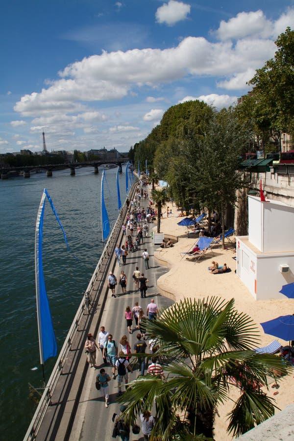 Het strand van Parijs stock afbeeldingen