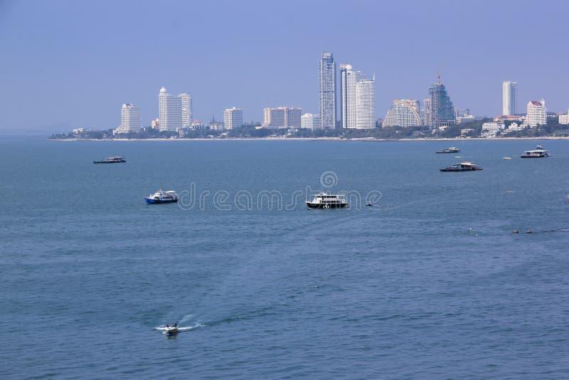 Het strand van Pattaya vakantie Thailand stock fotografie