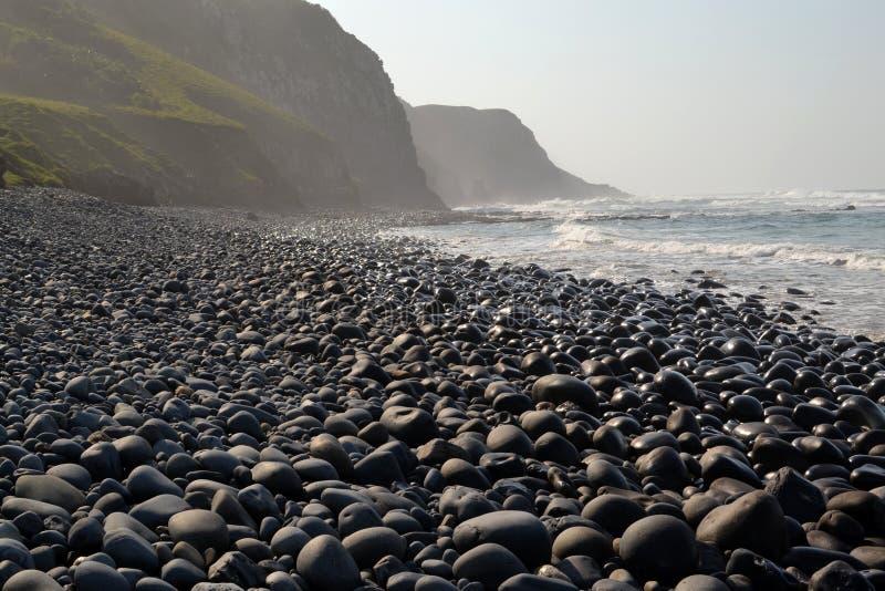 Het Strand van Pebbled stock foto's