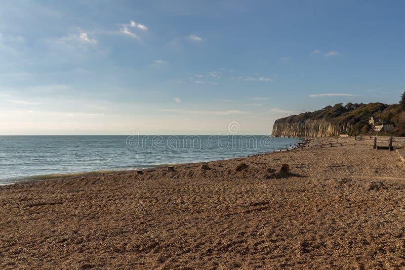 Het Strand van het Pettniveau, Oost-Sussex, het UK royalty-vrije stock afbeeldingen