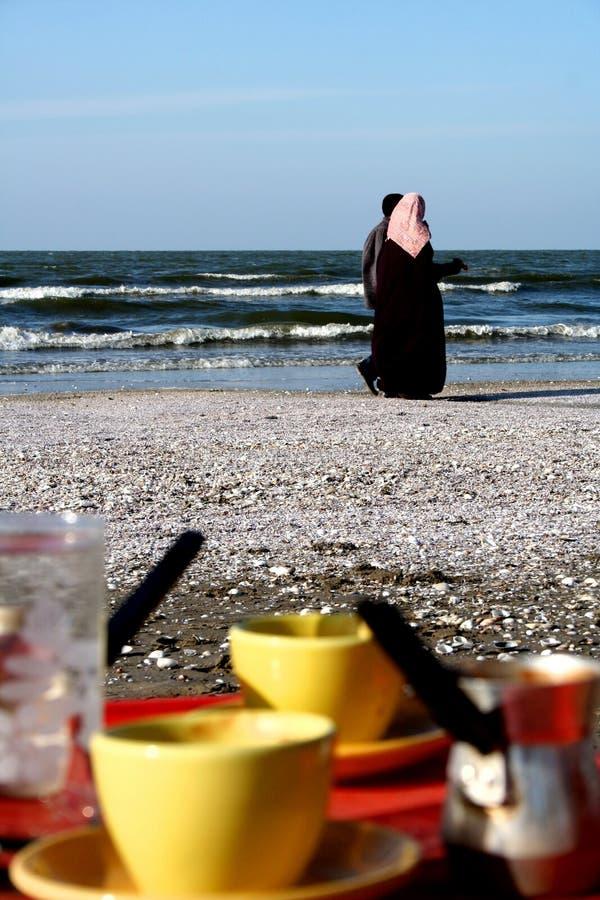 Het strand van Port Said royalty-vrije stock fotografie