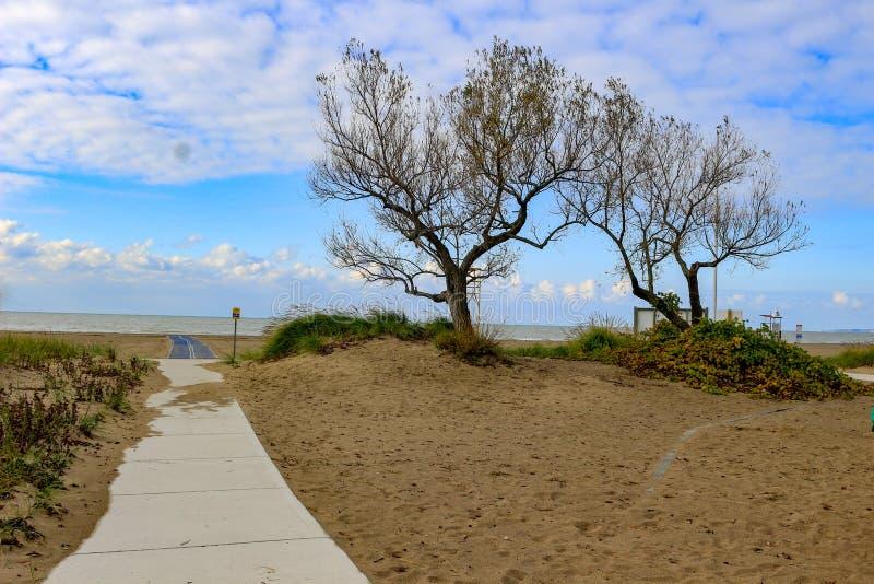 Het strand van Port Stanley in Ontario, gelegen in Southwestern ontario, langs het meer van Erie stock foto's