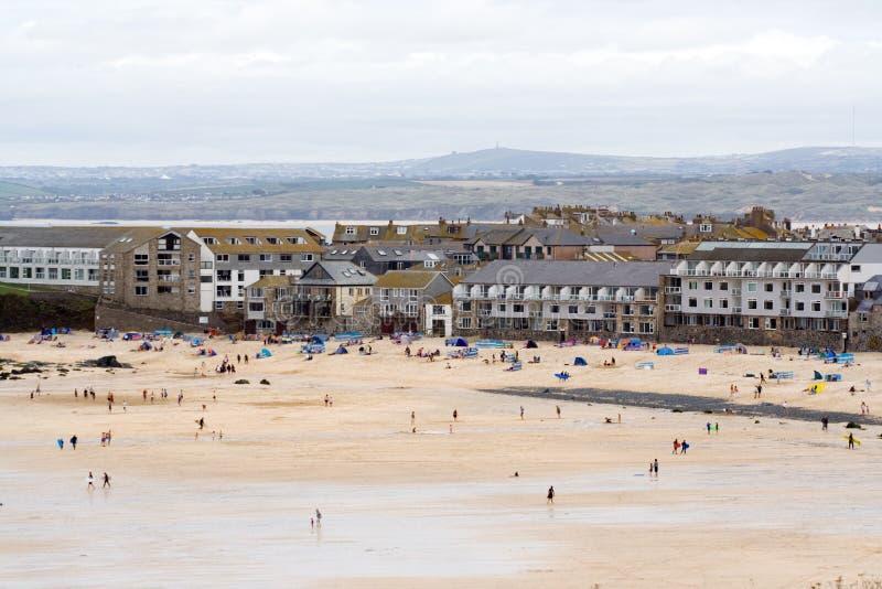 Het Strand van Porthmeor, St Ives stock foto