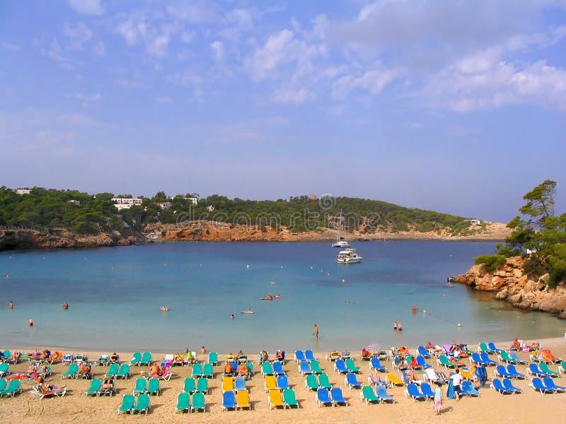 Het strand van Portinatx (Ibiza, Spanje) royalty-vrije stock foto's