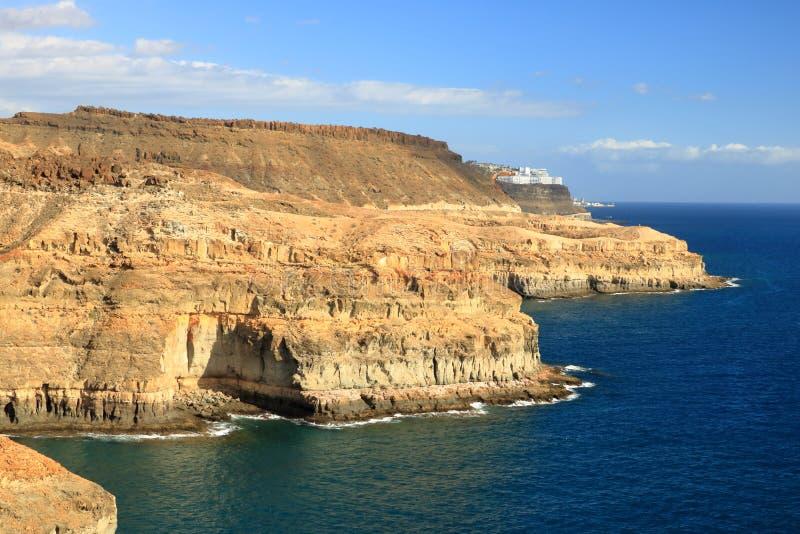 Het strand van Puerto Rico en amadores in Gran Canaria royalty-vrije stock fotografie
