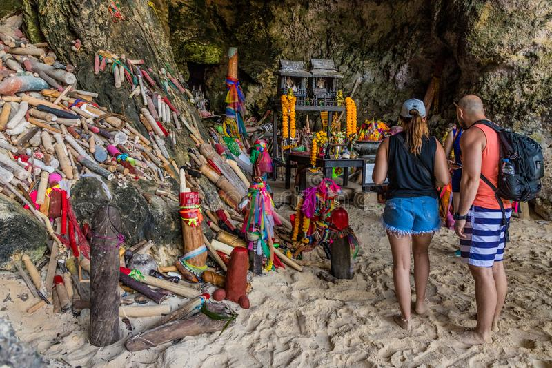 Het strand van Railay in Krabi Thailand stock foto