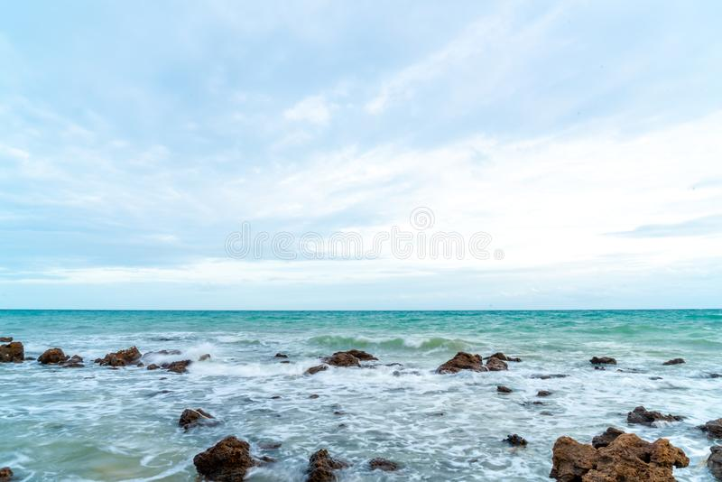 Het strand van Rayong in thailand stock foto