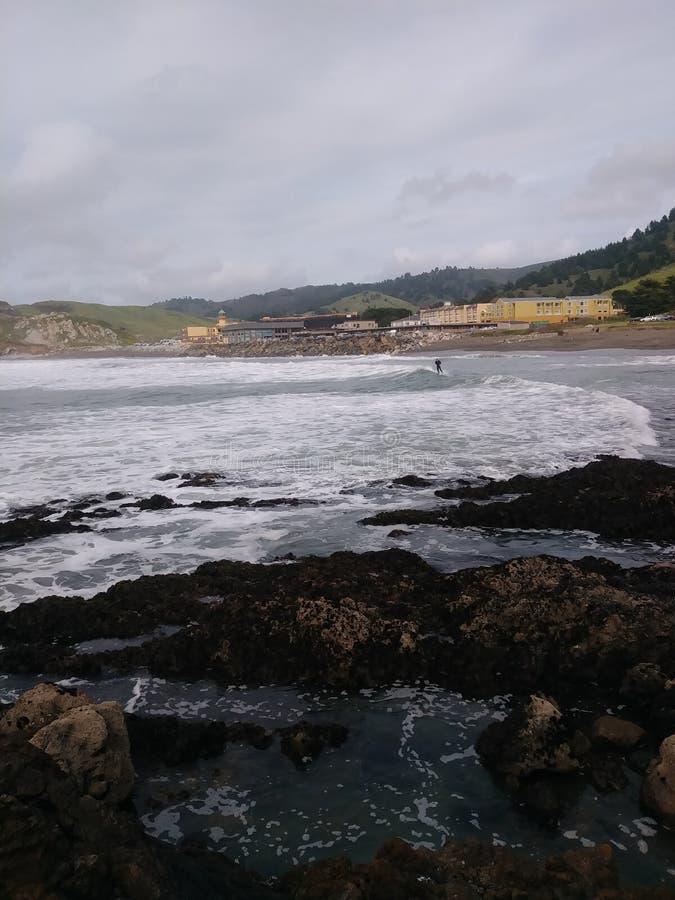 Het strand van Rockaway stock fotografie