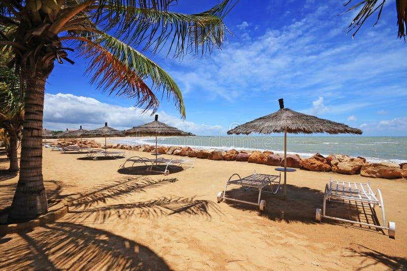 Het strand van Saly in Senegal royalty-vrije stock foto