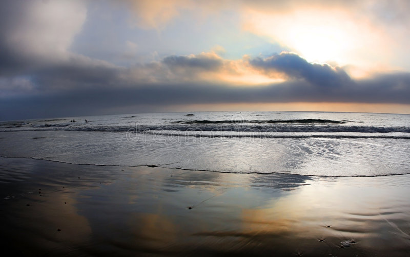 Het strand van San Diego royalty-vrije stock fotografie