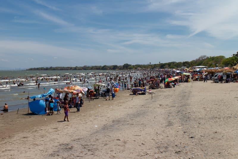 Het strand van San Jorge in Nicaragua stock afbeelding